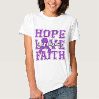 Superviviente de la fe del amor de la esperanza de remera