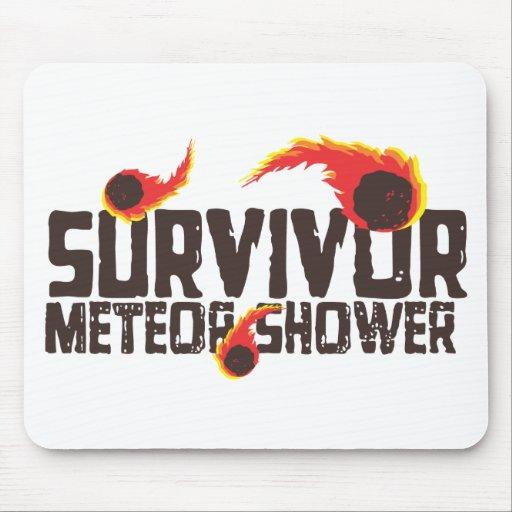 Superviviente de la lluvia de meteoritos tapete de ratón
