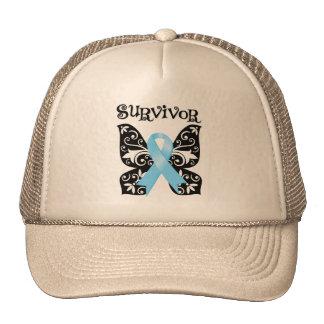 Superviviente de la mariposa del cáncer de próstat gorros bordados