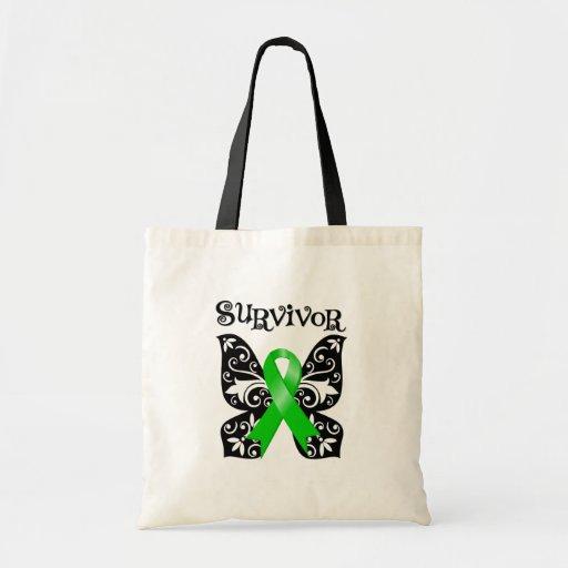Superviviente de la mariposa del linfoma Non-Hodgk Bolsa Lienzo