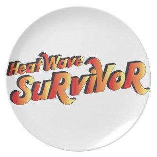 Superviviente de la ola de calor platos de comidas