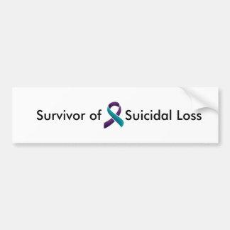 Superviviente de la pérdida suicida pegatina para auto