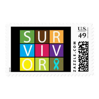 Superviviente de la recuperación del apego sello postal