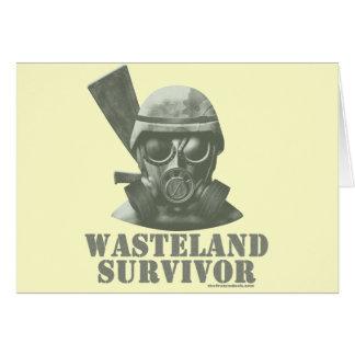 Superviviente de la tierra tarjeta de felicitación