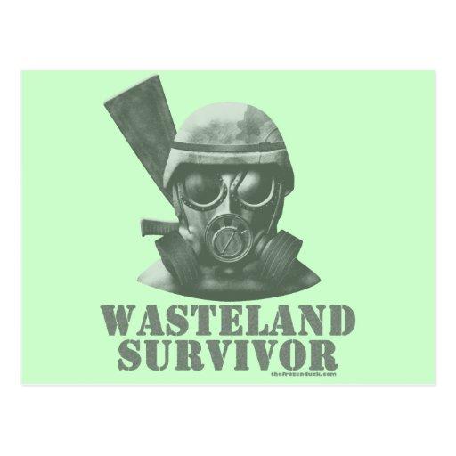 Superviviente de la tierra tarjeta postal