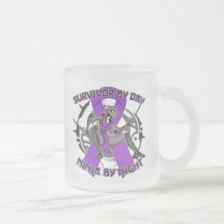 Superviviente de Leiomyosarcoma por el día Ninja p Taza De Café