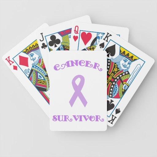 Superviviente de lujo púrpura barajas de cartas