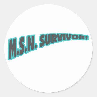 Superviviente de MSN en trullo Pegatina Redonda