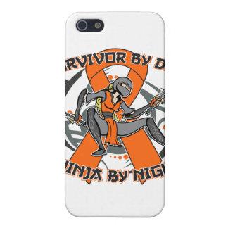Superviviente de RSD por el día Ninja por noche iPhone 5 Fundas