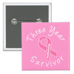 Superviviente de tres años (cinta rosada del círcu pins