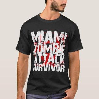 Superviviente del ataque del zombi de Miami Playera