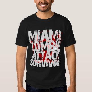 Superviviente del ataque del zombi de Miami Poleras