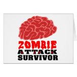 Superviviente del ataque del zombi felicitaciones