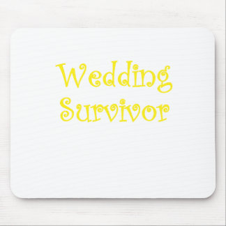 Superviviente del boda tapetes de raton