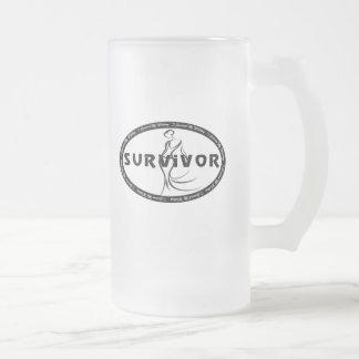 Superviviente del boda tazas de café