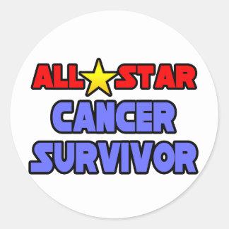 Superviviente del cáncer de All Star Pegatina Redonda