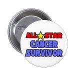 Superviviente del cáncer de All Star Pin Redondo 5 Cm