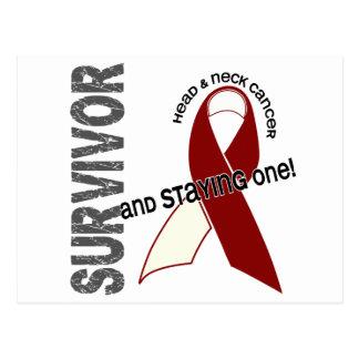 Superviviente del cáncer de cabeza y cuello tarjetas postales
