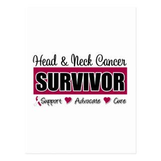 Superviviente del cáncer de cabeza y cuello postales