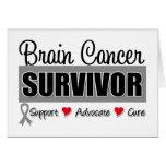 Superviviente del cáncer de cerebro tarjeta