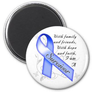 Superviviente del cáncer de colon imán redondo 5 cm