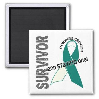 Superviviente del cáncer de cuello del útero imán para frigorifico
