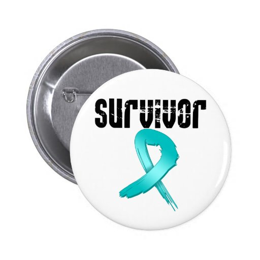 SUPERVIVIENTE del cáncer de cuello del útero Pin Redondo De 2 Pulgadas