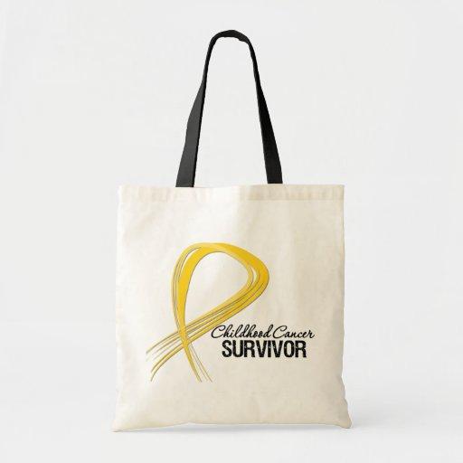 Superviviente del cáncer de la niñez de la cinta d bolsas de mano