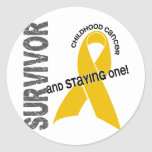 Superviviente del cáncer de la niñez etiqueta