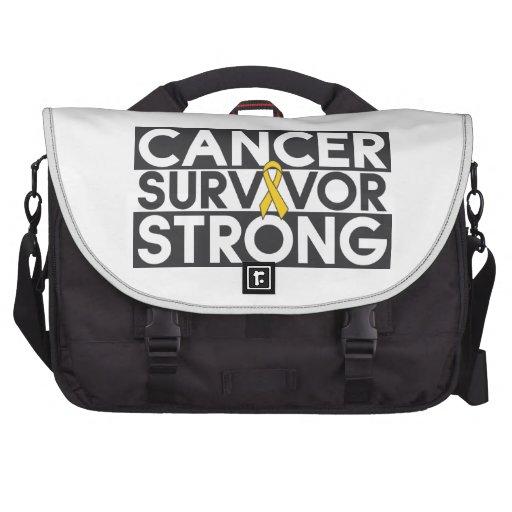 Superviviente del cáncer de la niñez fuerte bolsa para ordenador