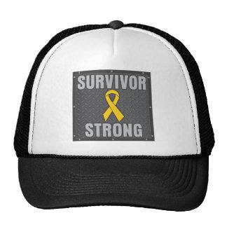Superviviente del cáncer de la niñez fuerte gorras de camionero