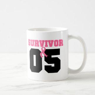 Superviviente del cáncer de pecho 5 años taza de café