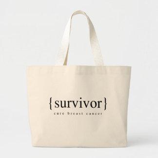 Superviviente del cáncer de pecho bolsa tela grande
