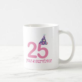Superviviente del cáncer de pecho de 25 años taza de café