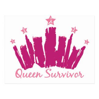 Superviviente del cáncer de pecho de la reina postales