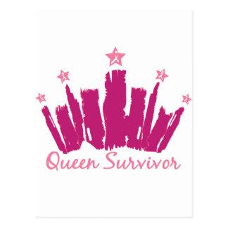 Superviviente del cáncer de pecho de la reina tarjetas postales
