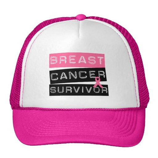 Superviviente del cáncer de pecho gorro de camionero