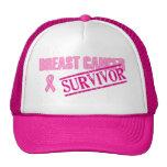 Superviviente del cáncer de pecho gorras