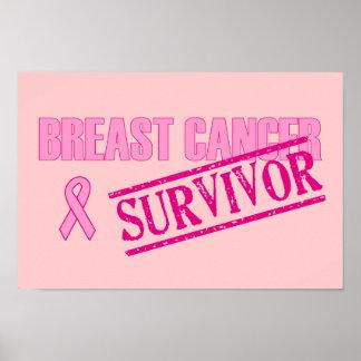Superviviente del cáncer de pecho posters