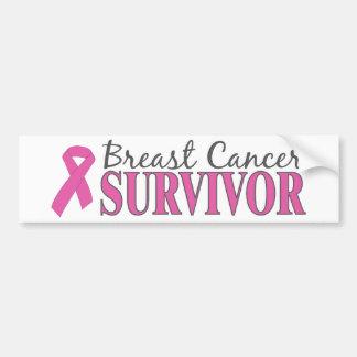Superviviente del cáncer de pecho pegatina para auto