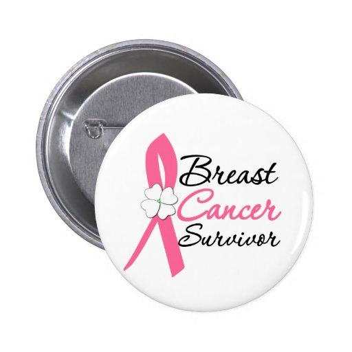Superviviente del cáncer de pecho pins
