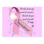 Superviviente del cáncer de pecho postal