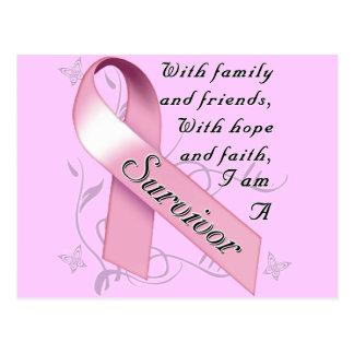 Superviviente del cáncer de pecho tarjeta postal