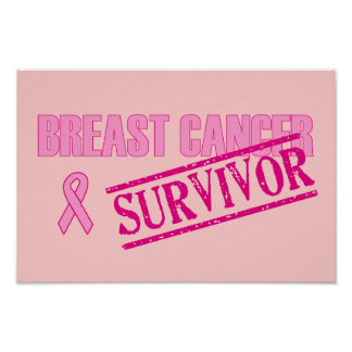 Superviviente del cáncer de pecho póster