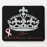 Superviviente del cáncer de pecho - princesa Crown Alfombrilla De Raton