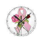 Superviviente del cáncer de pecho relojes de pared