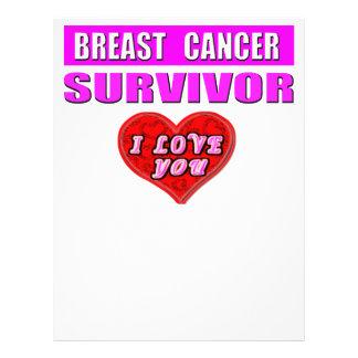 """Superviviente del cáncer de pecho te amo folleto 8.5"""" x 11"""""""