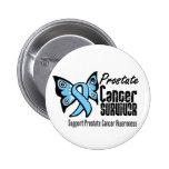 Superviviente del cáncer de próstata de la maripos pin