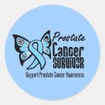 Superviviente del cáncer de próstata de la pegatina redonda