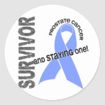 Superviviente del cáncer de próstata etiqueta redonda